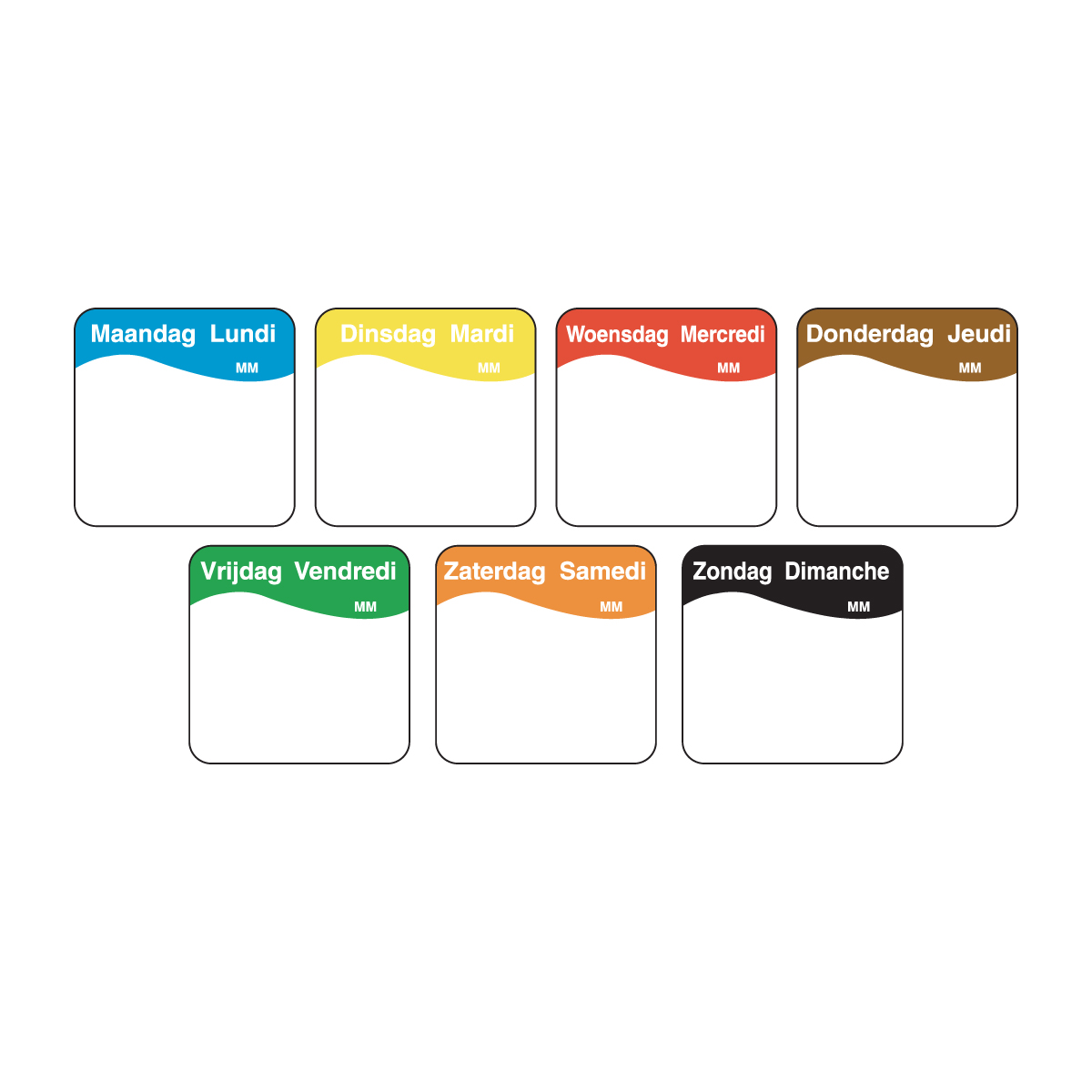 Easily removable stickers