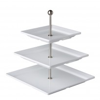 Etagere with 3 square plates melamine