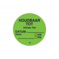 Easy removable sticker with dutch text 500/roll
