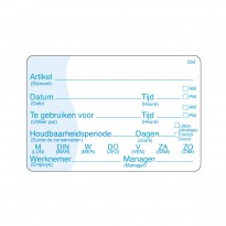 Completely soluble sticker writeable 250/roll