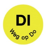 Permanent sticker 'di weg op do' 19 mm 1000/roll