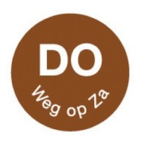 Permanent sticker 'do weg op za' 19 mm 1000/roll
