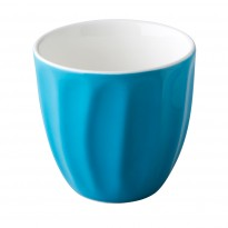 Stackable coffee cup without handle blue 180 ml