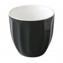 Stackable coffee cup black 180ml