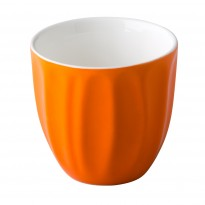 Stackable coffee cup without handle orange 180 ml