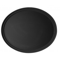 Cambro oval tray anti-slip black 56 x 68,5 cm
