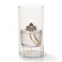 Large glass cylinder lamp clear 7,6 x 14 cm