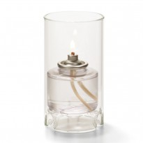 Mini glass cylinder lamp clear 6 x 11,1 cm