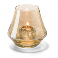 Gold lustre chime glass votive lamp