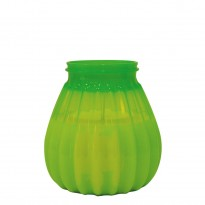 65-hours terrace candle plastic green