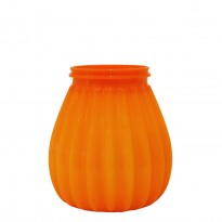 65-hours terrace candle plastic orange
