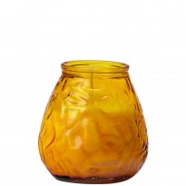 70-hours terrace candle glass amber