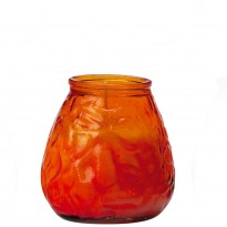 70-hours terrace candle glass orange