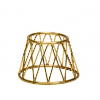 Display stand basket gold 15 x 10 x 10 cm
