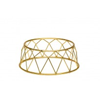 Display stand basket gold 25 x 12 x 10 cm