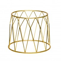 Display stand basket gold 25 x 12 x 20 cm