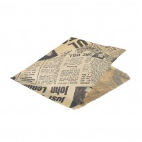 Greaseproof paper brown newspaper 17,5 x 17,5 cm 1000pcs