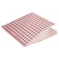 Greaseproof paper bags red gingham 17,5 cm 1000pcs