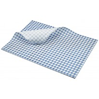 Greaseproof paper blue gingham 35 x 25 cm 1000pcs