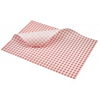 Greaseproof paper red gingham 35 x 25 cm 1000pcs