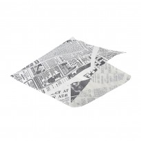 Greaseproof paper white newspaper 17,5 x 17,5 cm 1000pcs
