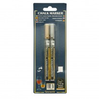 Liquid chalk marker 1mm gold/silver set 2pcs