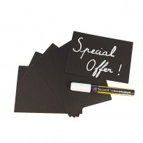 Chalk board tags set 20pcs A6
