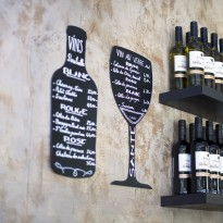 Chalk board wall mounted wine glass 30 x 50 cm