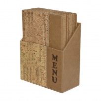 Menuholder set 10pcs incl box natural cork