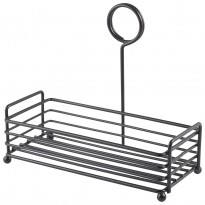 Black wire table caddy 19,5 x 8,6 x 18 cm