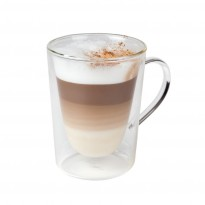 Double-walled macchiato glass 290ml