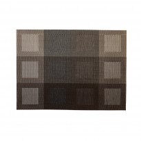 Placemat silver/brown 45x33 cm