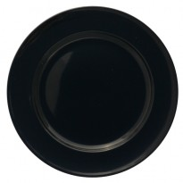 Plate with wide rim black 25,5 cm