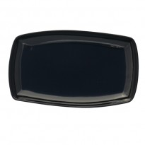 Plate rect. with raised edge black 29 x 17,5 cm