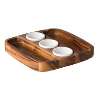 Two-Sided Tortilla Serving Tray 30 x 30 cm