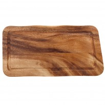 Rectangular board with groove 35 x 17,5 x 2 cm