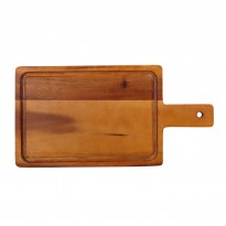 Acacia small handled board 35 x 18 cm