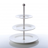 Etagere 3 plates with rim