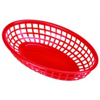 Fastfood basket red 23,5 x 15,4 cm