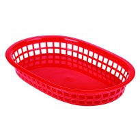 Fastfood basket red 27,5 x 17,5 cm