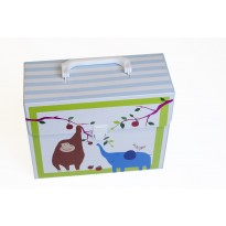 Kidset 3-pieces in suitcase blue