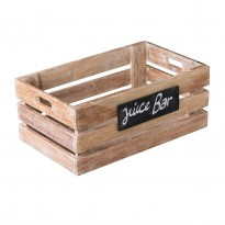 Crate with chalk board