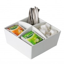 4-compartment tea & sugar holder 15,5 cm