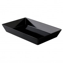 Rectangular tray black 25 x 15 x 7 cm
