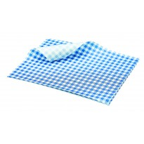 Greaseproof paper blue checkered 25 x 20 cm 1000pcs