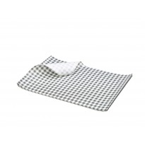 Greaseproof paper black checkered 25 x 20 cm 1000pcs