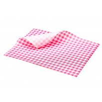 Greaseproof paper red checkered 25 x 20 cm 1000pcs