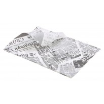 Greaseproof paper white newspaper 35 x 25 cm 1000pcs