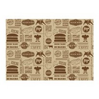 Greaseproof paper brown 'Steak House' 35 x 25 cm 1000st