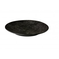 Coupe plate Honeycomb Black 16 cm